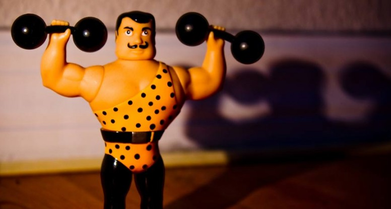 Photo of Weight Lifting Action Figure
