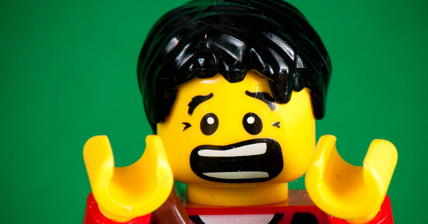 picture of lego man screaming